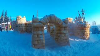 Снежный замок. (snow castle)(Скоро НГ. Построили
