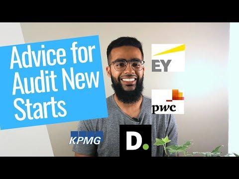 Advice for New Auditors (PwC, KPMG, EY, Deloitte)