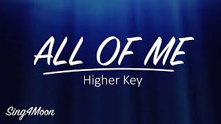 Gambar cover All Of Me – John Legend (Karaoke Instrumental) Higher Key