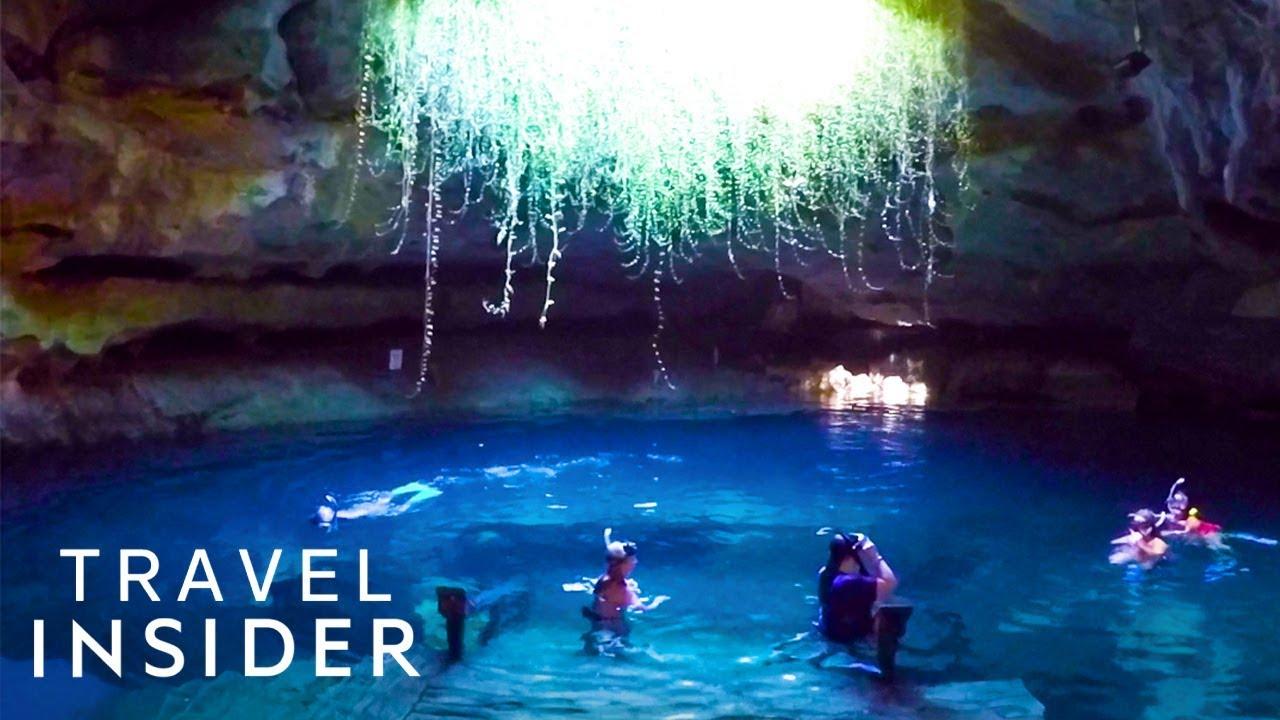 Hidden Swimming Hole Has Sapphire Blue Water