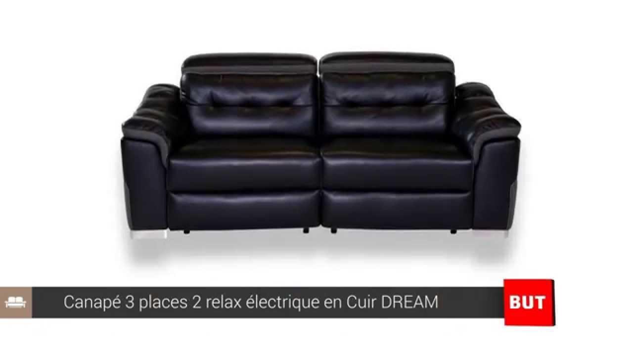 Canapé 3 places 2 relax électrique cuir DREAM BUT