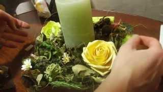 Икебана со свечой из сухоцветов своими руками / Ikebana with candle