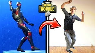 NINJA DOES THE HYPE EMOTE SHOOT DANCE IN REAL LIFE FUNNY Fortnite SAVAGE FUNNY Moments
