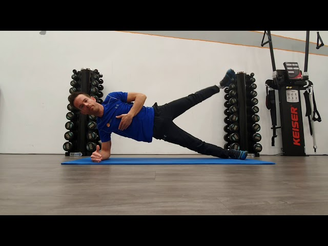 Plank to sideplank + leglift