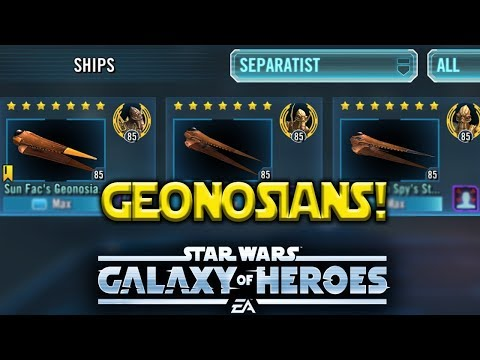 Geonosians SHIPS 2.0 - Star Wars: Galaxy Of Heroes - SWGOH