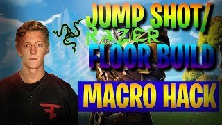 Fortnite FaZe Tfue JUMP SHOT/ QUICK BUILD MACRO HACK TUTORIAL. Razer. qui travaille.
