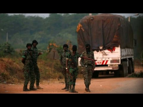 Heavy gunfire at military camps in Ivory Coast