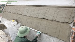 Great Traditional Construction Art Using Sand And Cement - Beautiful Roof Construction Ideas