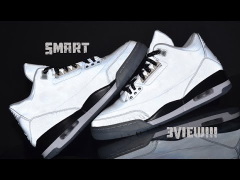 85ebe34e6b3b Air Jordan 5lab3 Reflective silver + 3m test Smart 3view Sneaker Review!!!