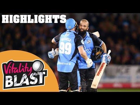 Sussex Sharks v Worcestershire Rapids | Moeen Ali Masterclass | Vitality Blast 2019 - Highlights