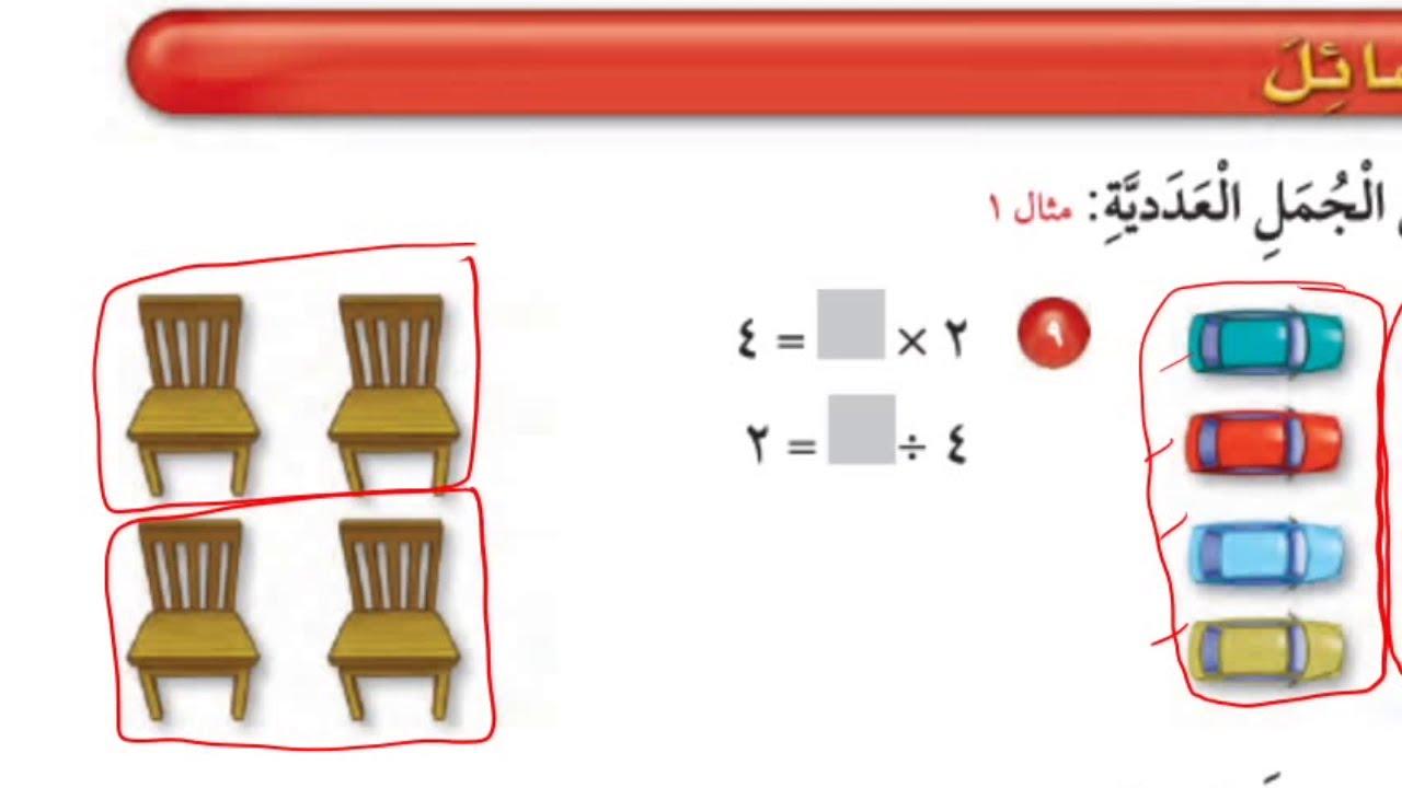 علاقة القسمة بالضرب - رياضيات الصف الثالث ابتدائي الفصل الدراسي الثاني
