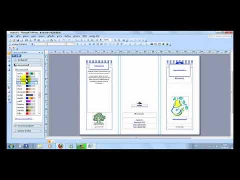 สอนการทำแผ่นพับง่ายๆโดยmicrosoft office publisher 2007