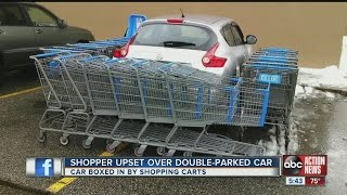 Shopper upset over double-parked car thumbnail