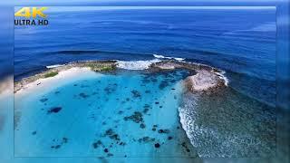Очень красивое релакс видео под потрясающую музыку Yakuro! Море, белый песок остравов. 4к