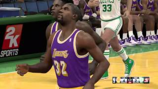 Classic nba2k15 matchup  85 Celtics vs 86 lakers simulation