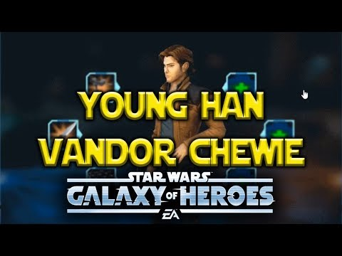 Young Han Solo Vandor Chewbacca HYPE - Star Wars Galaxy Of Heroes - SWGOH