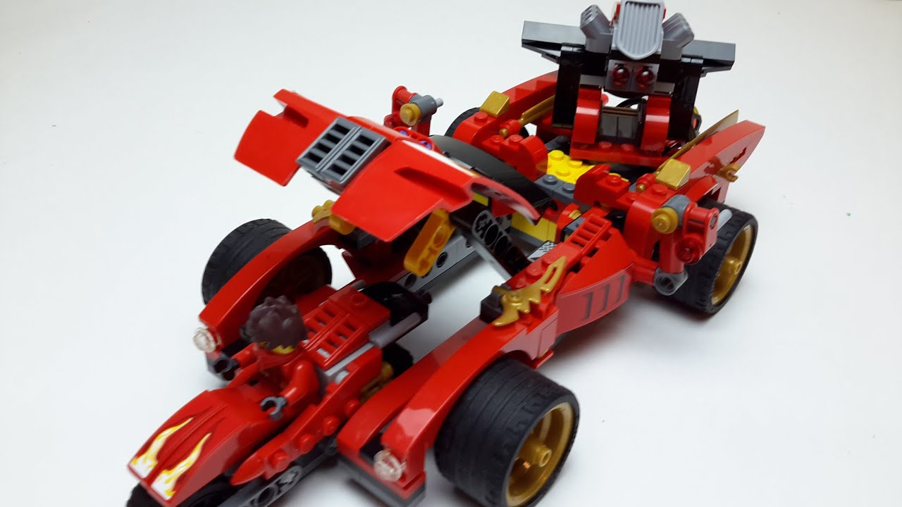 lego ninjago master if spinjitzu kai 39 s car stop motion
