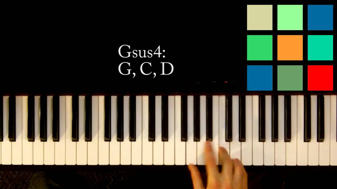 How To Play A Gsus4 Chord On The Piano Youtube