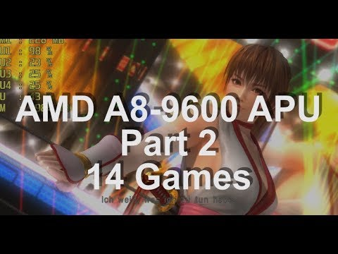Gaming on a AMD A8-9600 APU Part 2. 14 Games Test. AMD A8-96