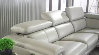 Embry 2-piece Leather Power-Reclining Sectional