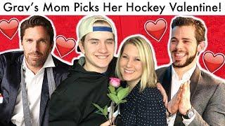 MY MOM PICKS HER NHL VALENTINE! (Hockey Henrik Lundqvist/Tyler Seguin Bracket Picks 2020)