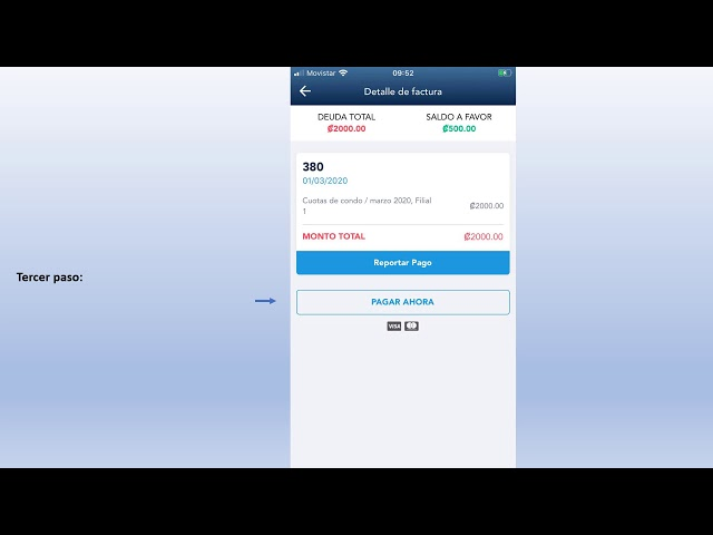 Cómo pagar las facturas pendientes con tarjeta de crédito o débito