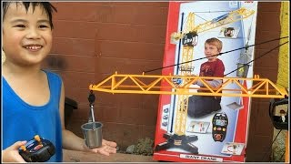 Giant Crane Construction Equipment by Dickie Toys, Unboxing and Assemble