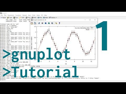 Gnuplot Tutorial 1: Basic Plotting Tips & Tricks, Errorbars, Png Output