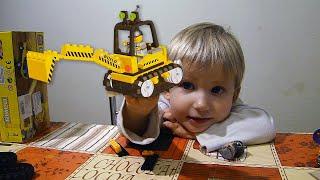 Игрушка ЭКСКАВАТОР для мальчиков и девочек конструктор ЛЕГО
