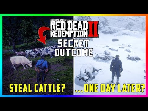 What Happens If You Steal The Farmers Cattle During This SECRET Mission In Red Dead Redemption 2? thumbnail
