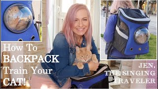 CAT BACKPACK: How to BACKPACK Train Your CAT!