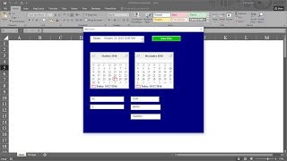 Calculating Days between Two Dates with MonthView Control in Excel VBA