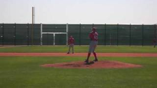 Josh Garton hits a homer during Cincinnati Reds Minor League Intra Squad Game