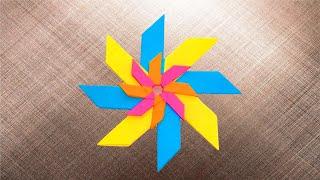 Оригами Звезда из бумаги. Новогоднее елочное украшение