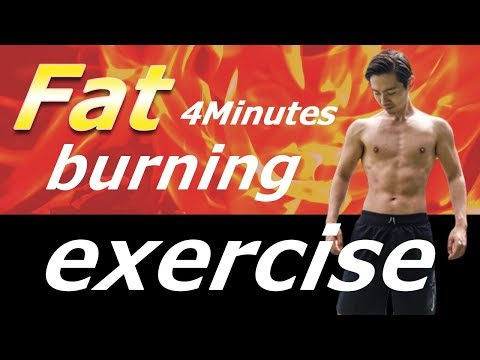 【4 minutes】The Best Fat Burning Exercises!!「脂肪燃焼エクササイズ」