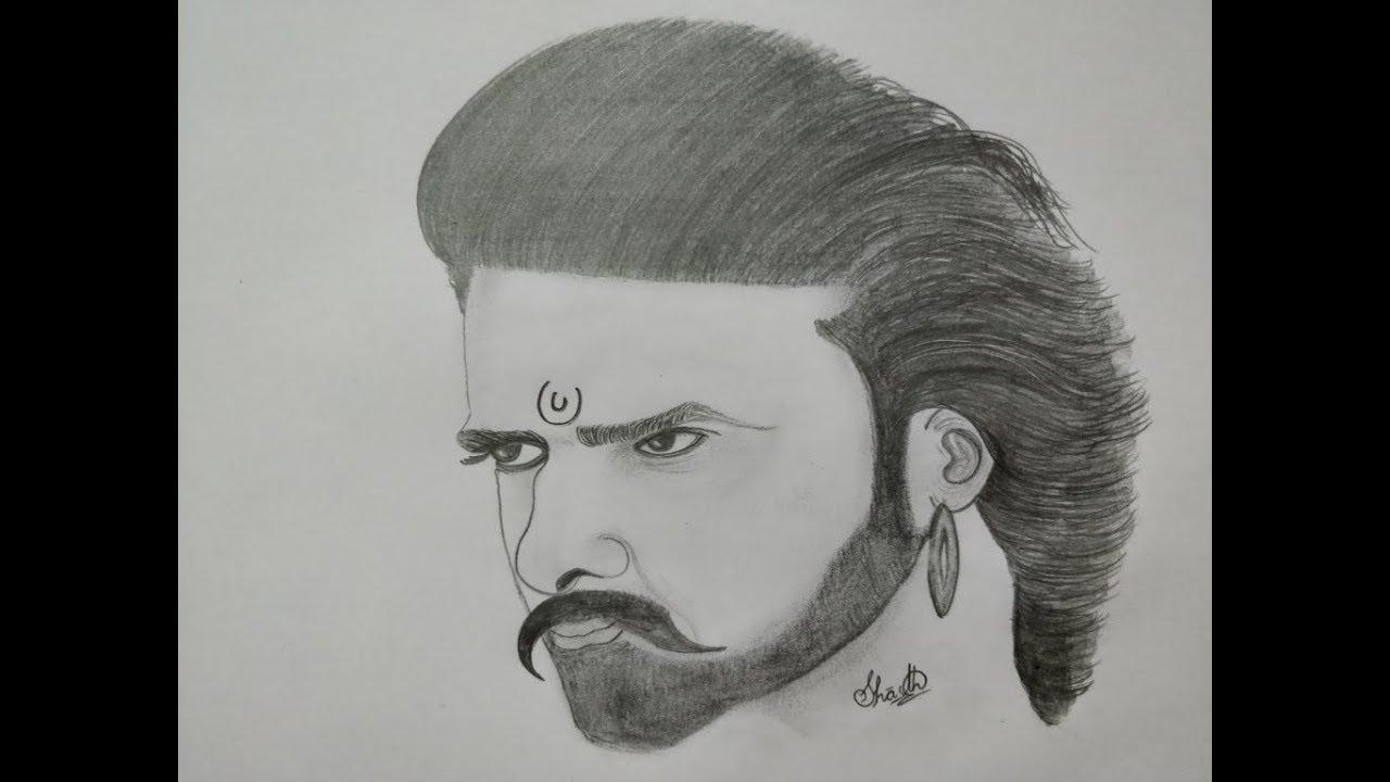 Drawing-Baahubali (PRABHAS) By SHASTHA SWARUP - YouTube
