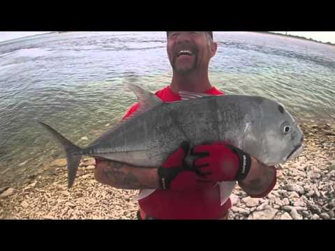Gt fishing land base on Spam Island in the phoenix islands kiribati