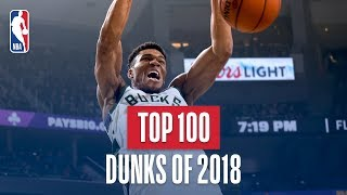 Download NBA's Top 100 Dunks of 2018 Mp3 and Videos