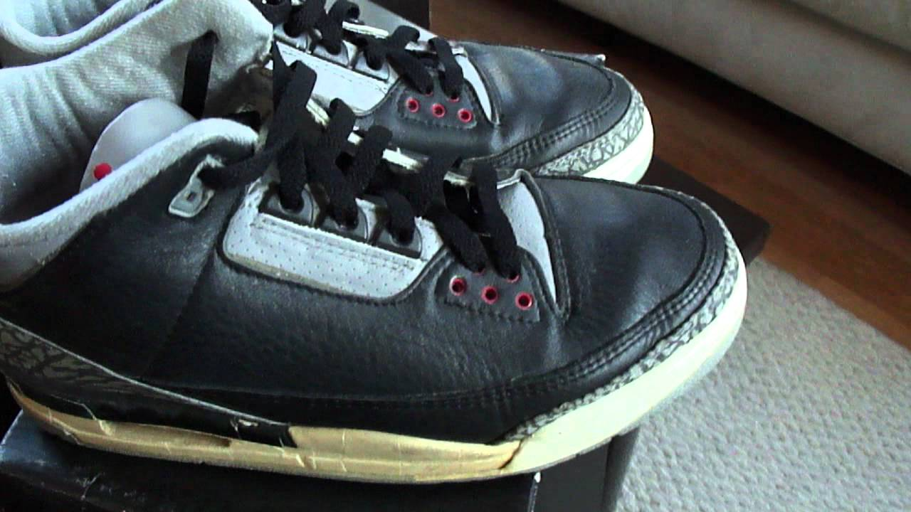 Air Jordan 3 black cement OG two pairs! plus shoes for sale - YouTube 13a1b6db1