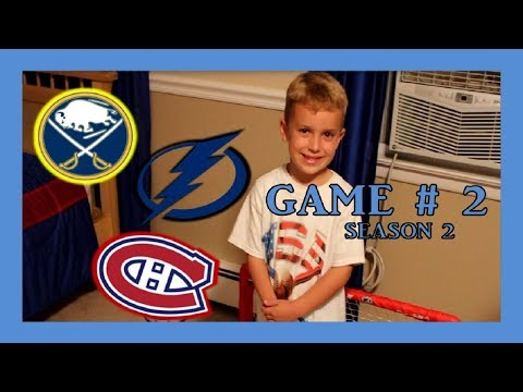 KNEE HOCKEY GAME #2 - LIGHTNING / CANADIENS / SABRES - SEASON 2