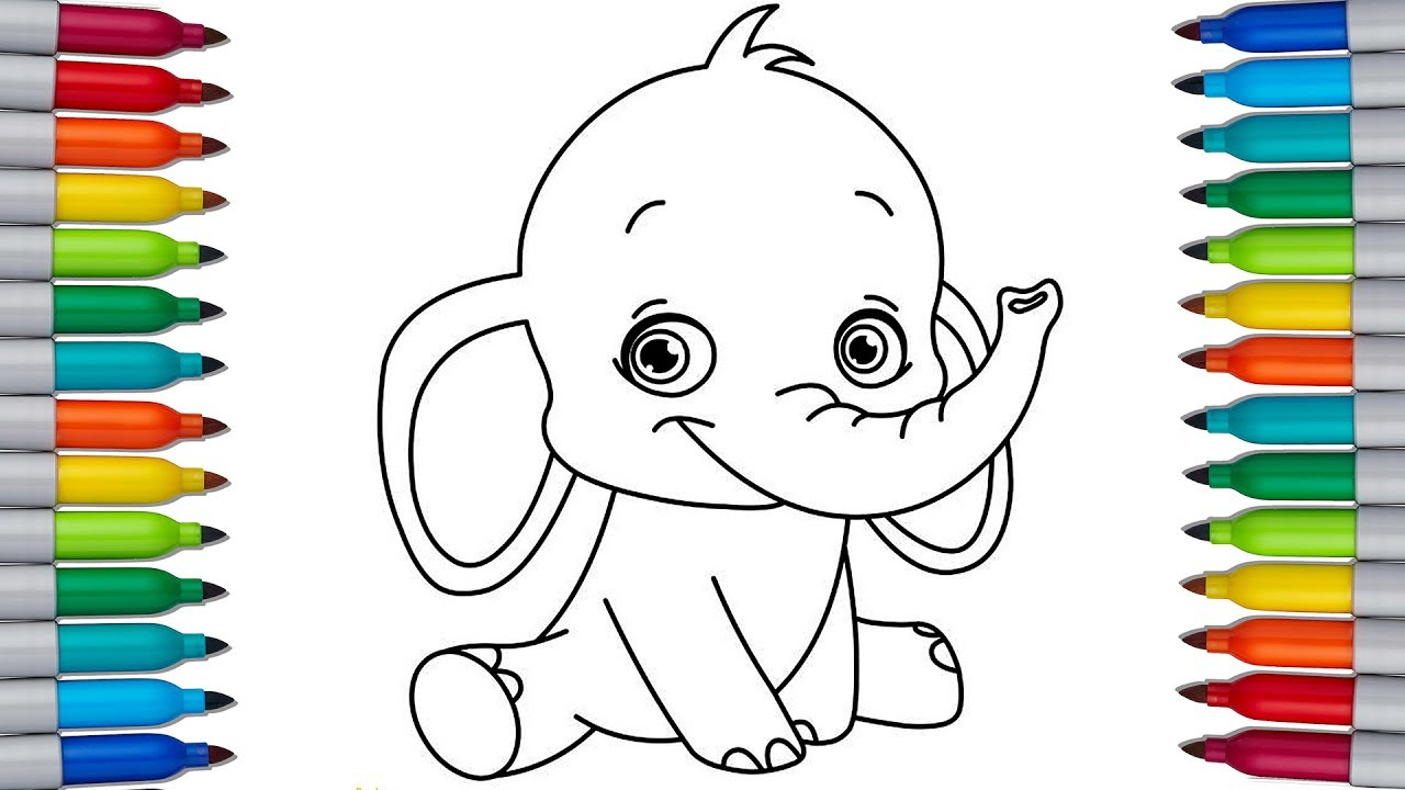 - DUMBO Coloring Pages For Kids Let's Color DUMBO - YouTube