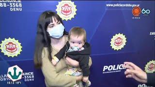 Policías salvaron la vida de una beba