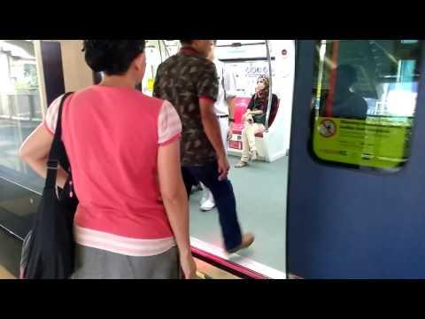 Monorail, modern mass transportation in Malaysia Kuala Lumpur