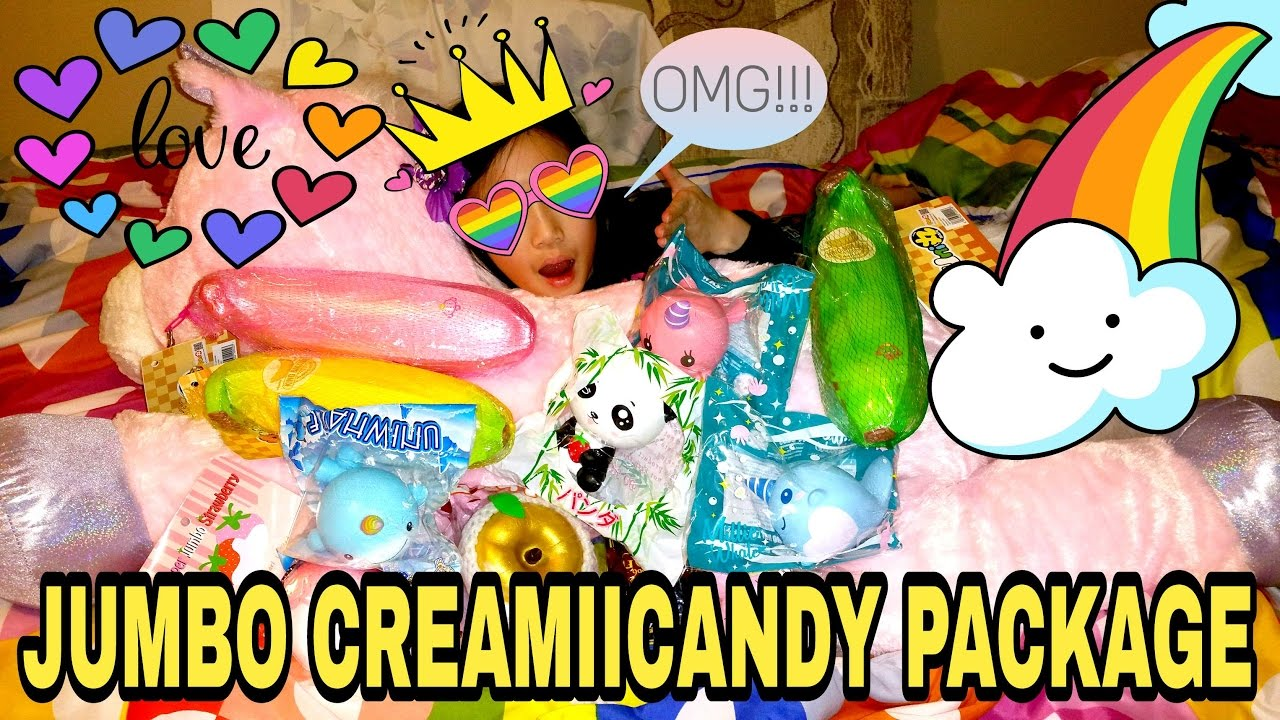 JUMBO CREAMIICANDY SQUISHY PACKAGE ~10% OFF COUPON CODE~ - YouTube