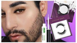 How To Apply False Eyelashes Perfectly #Makeup