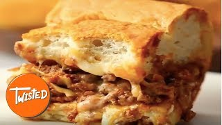 Video Lasagna Sandwich Loaf Recipe | Twisted download MP3, 3GP, MP4, WEBM, AVI, FLV April 2018