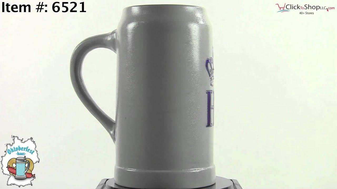 1 Liter Hofbrauhaus Ceramic Beer Stein W Hb Logo Youtube
