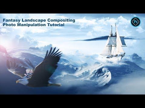 Fantasy Landscape Compositing Photo Manipulation Tutorial   Photoshop Tutorials    Photoshop教程