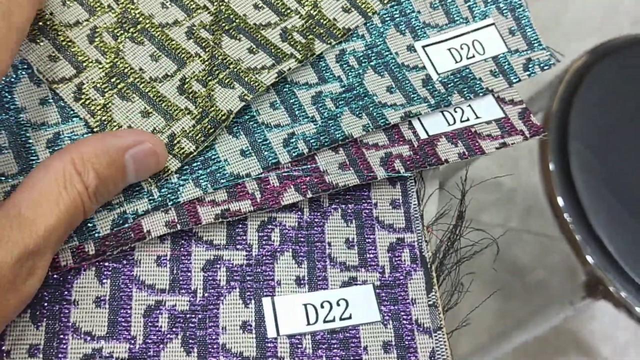 Metallic Lurex Fabrics Designer Dior Polyester Fabrics for Haute Couture Glittering Clothes Fabrics
