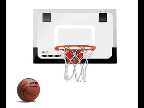 Mini Basketball Hoop Miniature System Backboard Wall-Door Mount Indoor-Office  sc 1 st  YouTube & Mini Basketball Hoop Miniature System Backboard Wall-Door Mount ...